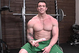 in Muscle Hunk Tries a Dildo by