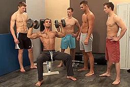 Adam Rupert, Ivo Kerk, Roman Koroza, Vasek Konik, Viktor Baco in Locker Room Jocks BJ's by