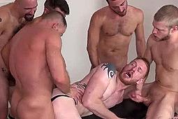 Devan Bryant, Hank Rivers, Leon Fox, Logan Stevens, Miles Andrew, Shay Michaels in Ginger Piss & Bareback Slut by