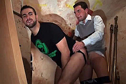 Cyril Big Dick, Morgan Daix in Seduced on the stairway to the cellar by