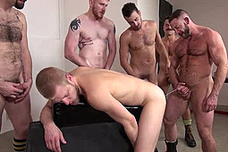 Devan Bryant, Hank Rivers, Leon Fox, Logan Stevens, Miles Andrew, Shay Michaels in Pissed On At Both Ends by
