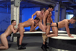 Brian Bonds, Jimmy Durano, Kris Anderson, Marc Dylan, Spencer Fox in Pack Attack 6: Orgy Scene by Hot House