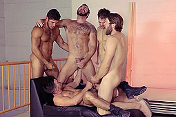 Colby Keller, Dato Foland, Gabriel Clark, Jessy Ares, Paddy O'Brian in Howl: Paddy's BuKkake by