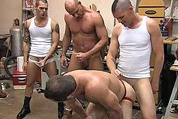 Aj Rider, Andre Barclay, Boyhous, Chris Kohl, Jackson Reid, Jessie Balboa, Rich Wrangler in Chris Gets GangBanged by