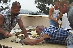 Austin Black, Daddy Joe, Joshua Scott, Kevin O'Malley, Titpig in Nailed to Plywood by