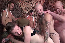Boy Fillmore, Cy Kohen, Dylan Hyde, Dylan Saunders, Johnny Five, Leo Vega, Parker in The Army's Cum Dump by