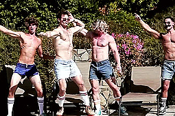 Gabriel Cross, Kayden Hurley, Taylor Wolf in Retro Party by