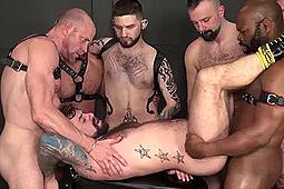 Adam Russo, Boy Fillups, Cutler X, Jake Wetmore, Jon Shield, Michael Phoenix, Parker in Plundering Jon's Hole by