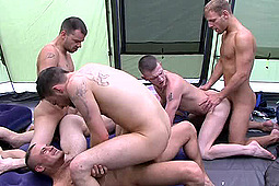 Bradley, Fraser, Josh Jared, Kai, Matt Brookes, Riley Tess in Mating Season Episode 8: An Orgy To End A Great Trip by