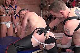 Cope, Derek Parker, James Aaron, Ken Byker, Kyle Savage, Rowdy McBeal in Bareback Hole-Stretchers by