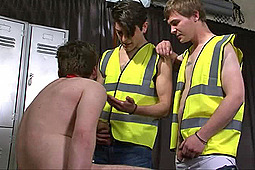 sub elliott, Master Lucas , Master Tom in Submitting to Construction Workers by