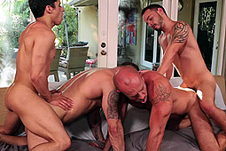 Armond Rizzo, Matt Stevens, Pedro Andreas, Rafael Lords in 2 Lads Fucking 2 Dads by Lucas Entertainment