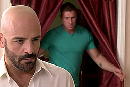 Adam Russo, Connor Maguire in Stepfather is Blackmailed by Icon Male