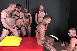 Aarin Asker, Lex Antoine, Lucas Cipriani, Nick Roberts, Ray Dalton, Shay Michaels in Ray Gets Loaded Up With Cum by