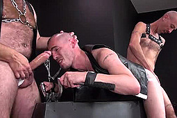 Jason Stormme, Nick Roberts, Super Steve in Jason Gags While Getting Spit-Roasted by