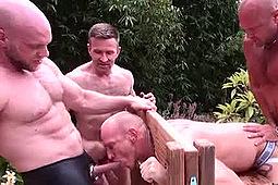 Chad Brock, Hogan Wade, Justin Cox, Kamrun, Mason Garet, Matt Sizemore, Parker in Wet Breeders Scene 2 by