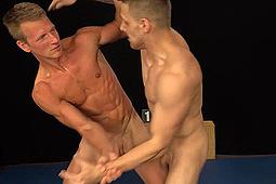Robin Valej, Vlado Tomek in Nude Wrestlers Robin & Vlado by Str8Hell