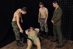 Ivan Mraz, Laco Meido, Libor Kenda, Patrik Maly in Soldiers Torture a Spy by Str8Hell