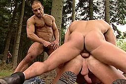 Benjamin Stark, Damien Crosse, Pierre Sias in Forest Fuckfest: Benjamin, Damien, & Pierre by