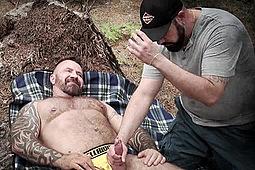 Marc Angelo, Skott Locke in Skott Locke Gives Marc Angelo a Handjob by