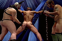 Joey Russo, RJ in Bondage Slave to Clowns by