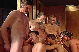 Joe Sarge, Joey Russo, Marc Sterling, Randy Eliott, Ricky, Tim Tucker, Toby Tyler, Troy Banner in Orgy in the Rec Room by
