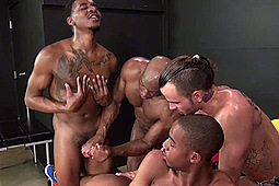 Champ Robinson, Knockout, Lukas Cipriani, Tigger Redd in The Black and White Sandwich by