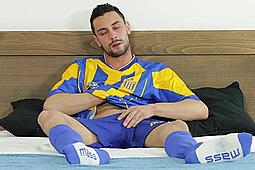 in Lukas Wanking in Football Kit by