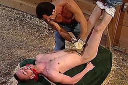 Ben Jakks, Brock Powell, Hans Ebson, Michael Ray, Owen Hawk in Stud Farm: Bonus Bondage Scene by
