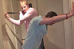 Billy, Brett in Brett Stevens Belts Billy by