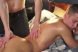 Tyler Hill, Zach Taylor in Zach Taylor Massages Tyler Hill by