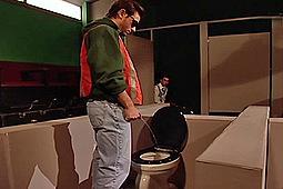 Abram Rodriguez, Danny Vox, Joey Russo, Kent Larson, Matt Majors in Mens Room: Bakersfield Station by