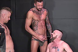 Aaron Burke, Chris Perry, Dolf Dietrich, Jacob Slader, Patrick O'Connor, Tony Bishop in Patrick the Piss-Drinking Cum Dump by