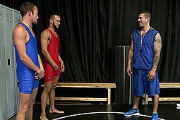Caleb Troy, Javier Cruz, Zeke Weidman in Sex With Their Wrestling Coach by