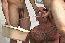 sub mr wilkinson, Master Nick, Master Toby in Police Piss Humiliation by