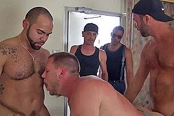Alejandro Fusco, Alex, Brett Bradley, Hans Berlin, Trey Turner in Hans Berlin's Gang Breeding by