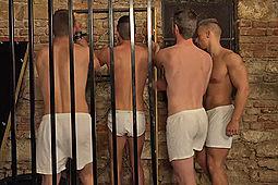 Bradley Cook, Filip Vacek, Nikol Monak, Tony Mark in Prison Assault by Str8Hell
