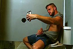 Alessio Romero, Brian Bonds in Gym Glory Hole: Brian Bonds & Alessio Romero by
